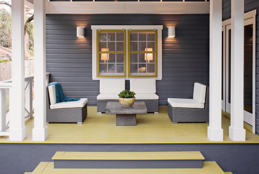 Exterior Deck Grey and Yellow